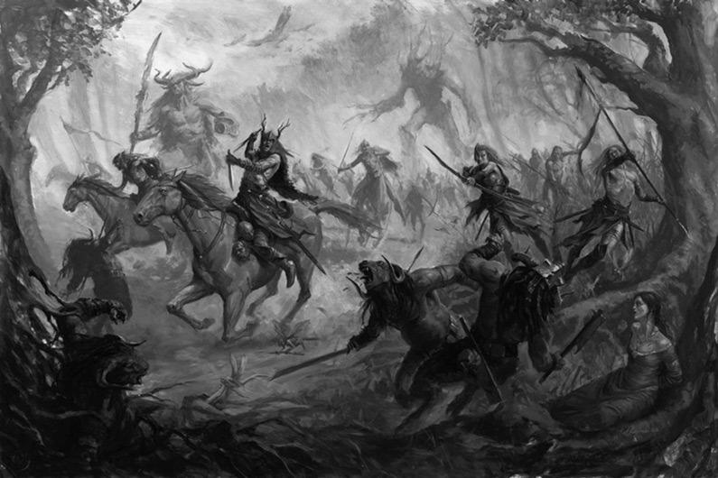"""""""Wood Elves"""" by Karl Kopinski"""