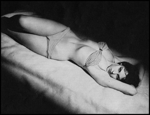 mysterygirlvintage:   Marie Devereaux • Photo by Edger Brind  Modern Man; November 1957