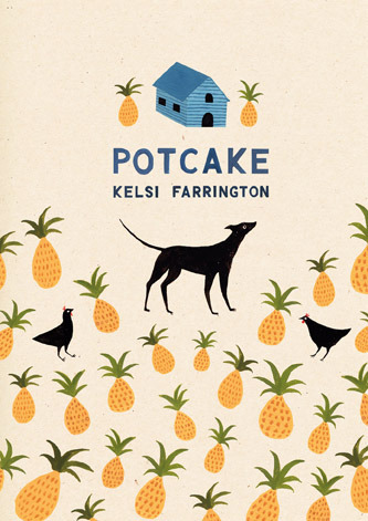 Cover design no.1 for Kelsi Farrington's prospective cookery book, Potcake. The book is a fusion of Bahamian recipes, and her personal memories of growing up in the Bahamas.