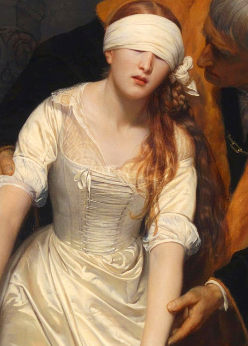 c0ssette:  The Execution of Lady Jane Grey (detail), Paul Delaroche, 1833.