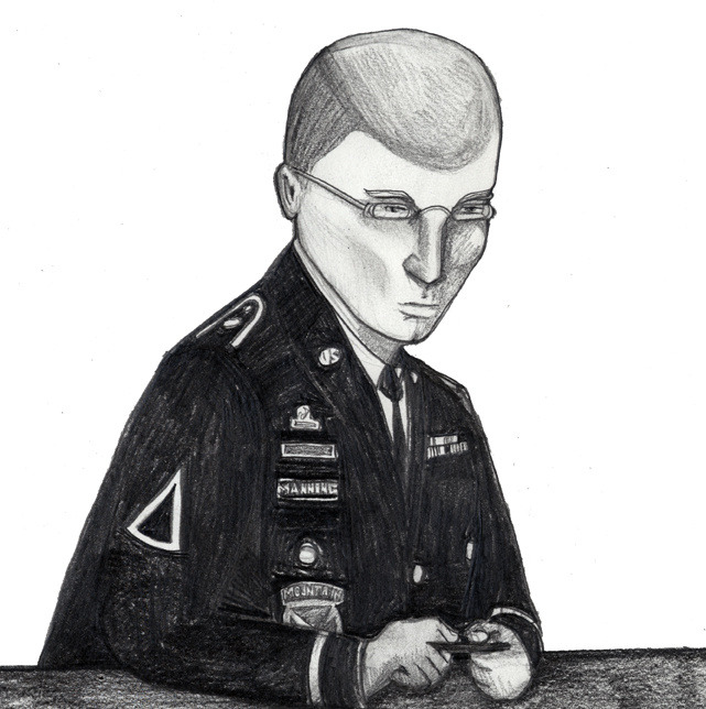 "Bradley Manning's Court Testimony—Leaked  When Army Pfc. Bradley Manning spoke before a military judge at length for only the second time ever last month, the media gallery next to the Fort Meade, Maryland, courtroom was arguably the most crowded it has been since the 25-year-old army private was arraigned one year earlier. Clearly, I was not the only one in attendance that morning weighing whether or not it was worth risking my career, my reputation, and a possible military reprimand by recording the soldier's testimony: this morning, audio of his guilty plea was leaked to the web by an anonymous source.      The significance of Pfc. Manning's statement doesn't begin and end with what he said last month. Yes, the army-intelligence officer admitted for the first time ever during the roughly hour-long reading that he did, in fact, cause the biggest intelligence leak in the US history. And, yes, as many assumed, he did supply the whistleblower website WikiLeaks with a trove of sensitive documents that he thought would embarrass the very country he swore to protect. His words weren't the only ones that mattered, though. By finally admitting to sharing war logs, State Department cables, and hundreds of thousands of protected files, Pfc. Manning was no longer the ""accused"" WikiLeaks source or the ""alleged supplier"" of some of the rawest evidence of American misdeeds in the Iraq and Afghan wars. He owned up. Yes, he did it, and a few dozen members of the press were hearing with their own ears why. Those members of the press have painstakingly referred to Pfc. Manning as, largely, anything but the proven WikiLeaks source since his military detainment began over 1,000 days ago. Now, however, he can be properly credited. And he should be. Pfc. Manning said he leaked video footage of Iraqi civilians being murdered by Americans to spark debate. And sharing State Department cables, he said, was to show the world what the United States was really doing abroad. It was the first time I ever heard his voice, and it was a moment I don't think I'll ever forget. Continue"