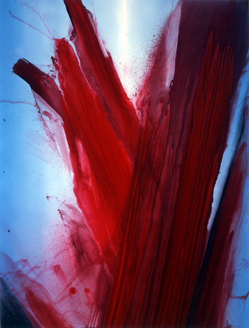 nearlya:  Barnaby Furnas, Untitled (Flood), 2007, Urethane, dye and dispersed pigment on linen