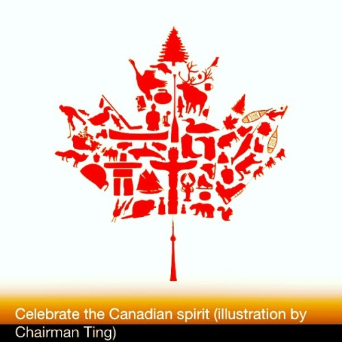 Celebrate the #Canadian spirit! #avatar by @chairman_ting for @explorecanada #keepexploring #Canada #mapleleaf #icon #illustration