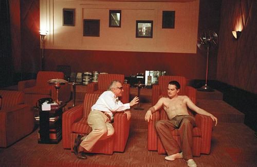 fuckyeahdirectors:  Martin Scorsese with Leonardo DiCaprio on the set of The Aviator