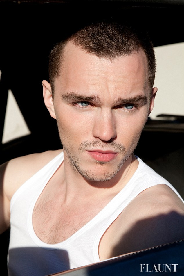 acollectionofwellbehavedbeards:  Nicholas Hoult (via Nicholas Hoult reveals his muscular chest in a white vest as he portrays his edgy side for new Flaunt fashion shoot | Mail Online)