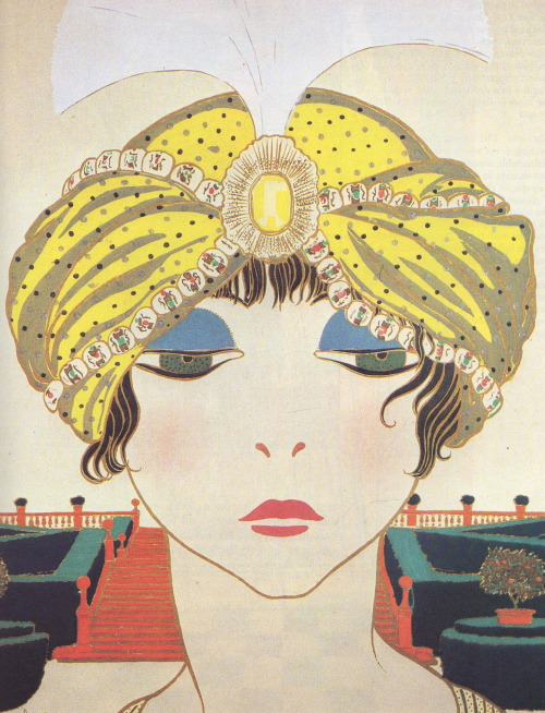 wornjournal:  Paul Poiret's Turban DesignsLes Choses de Paul PoiretIllustrated by Georges Lepape in 1911***Worn Fashion Journal