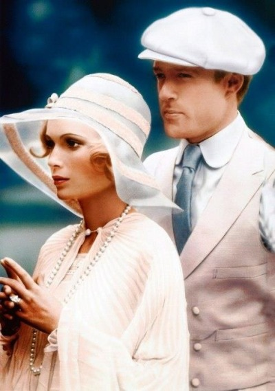 superseventies:  Mia Farrow and Robert Redford in 'The Great Gatsby',1974.