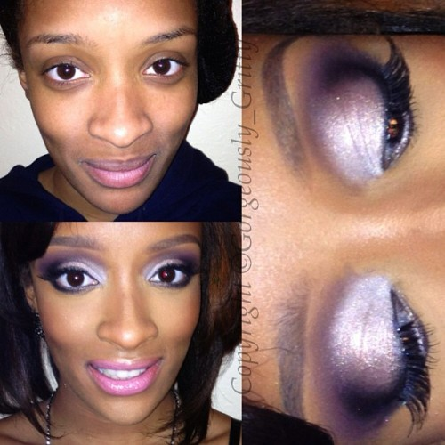 thegorgeousandthegritty:  What she wanted: Kim K. inspired makeup for her 17th birthday 🎉💗🎈 I kept the eyelids light and smoked out in the outer corners and paired it with a fresh pink lip to give her the affect she wanted while still keeping it age appropriate #NoFilter #Iphonesia #Instagood #igers #makeup #beauty #maccosmetics #makeupartist