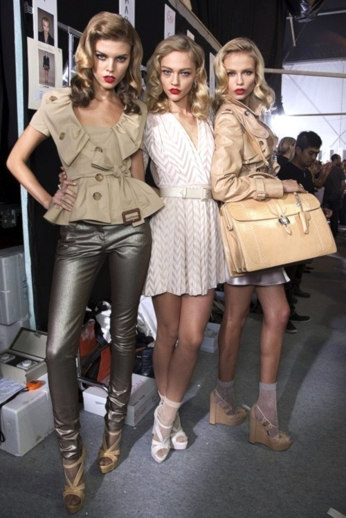 10000dollars:  Maryna Linchuk, Sasha Pivovarova, and Natasha Poly
