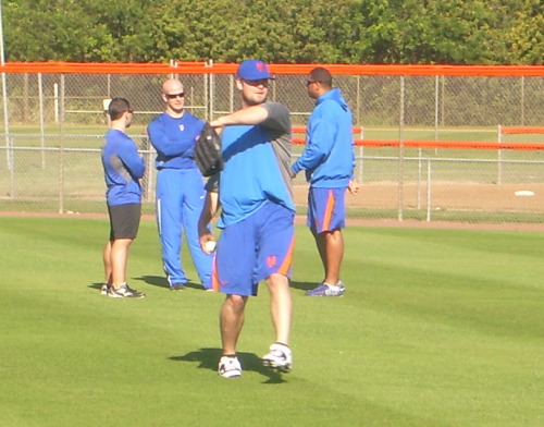 "It's Lucas Duda's first day in Port St. Lucie:  ""It's good to get back on the field again. I wanted to start work early because of my injury. I'm swinging the bat and things are fine. Dave Hudgens and I will be working every day until camp opens. Last year was a tough year for me. That's in the past. I'm looking forward to putting up the kind of numbers that I'm capable of."""