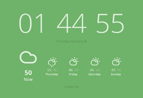 laughingsquid:  Currently, Get the Forecast Every Time You Open a New Tab in Chrome  Lovely.
