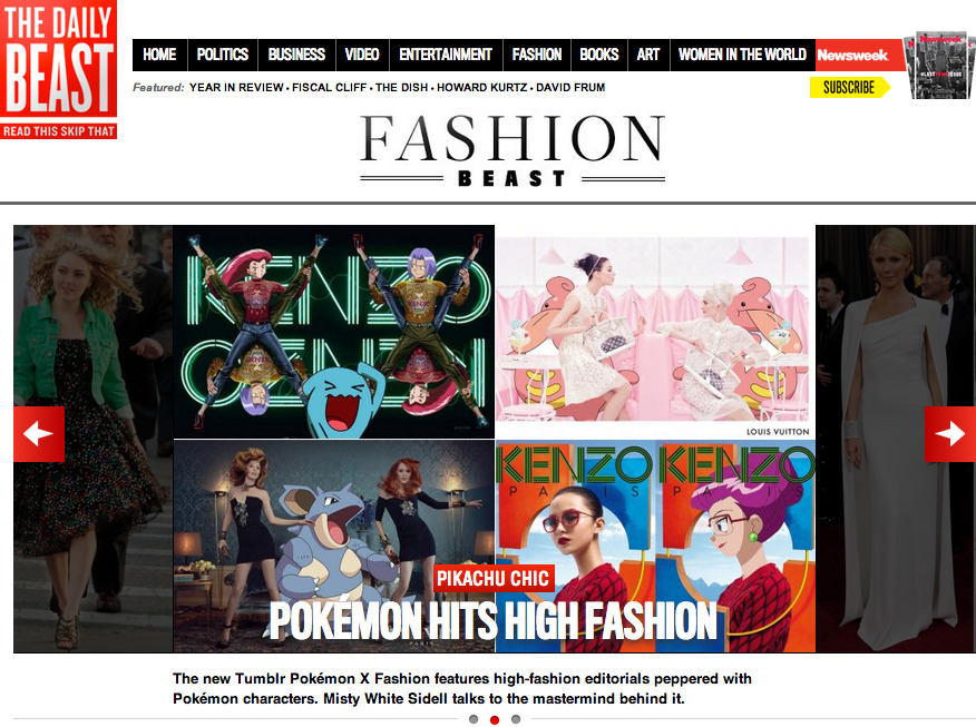 pokexfashion on The Daily Beast! Thank you so much!