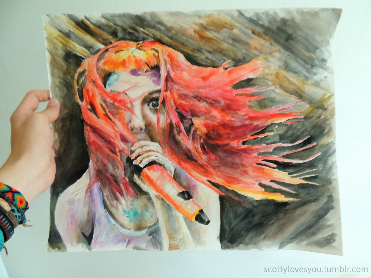 my painting of Hayley Williams