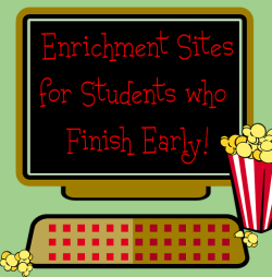 Have a few early finishers? Check out what's new at KB…Konnected Kids!  #edtech #sschat #literacy #scichat #mathchat #games  Below are just a few of the sites that I have added to KB…Konnected Kids: Enrichment Sites for Students who Finish Early. Currently there are 300+ sites arranged by categories. Read Alongs KOL Stories Highlights Kids (stories) Nat Geo Young Explorers Toon Book Reader Art 2  Destination Modern Art Kerpoof Aminah's World Social Studies The President's Desk (JFK) Music Journeys into Jazz Jam Sessions Fun Reads Kidjutsu Science 2 Kids Carbon Footprint Calculator Comic Maker Manga Comic Creator Games 2  Solid Edge Garage Zoopz