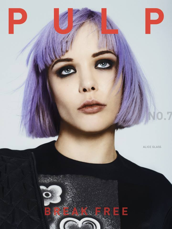 Alice Glass on the cover of the new Pulp (no. 7)