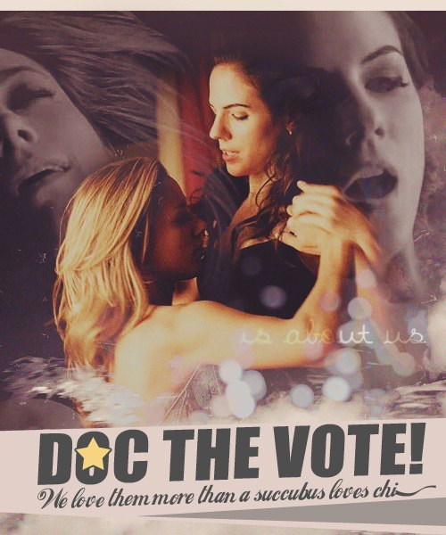 thatisallme:  A great fanart made by a fan and posted in a Lost Girl forum. She let us to use it (thank you mawka01), so here is a reminder to vote, so we can win another poll: http://www.zimbio.com/brackets/TV+Couples+March+Madness+2013