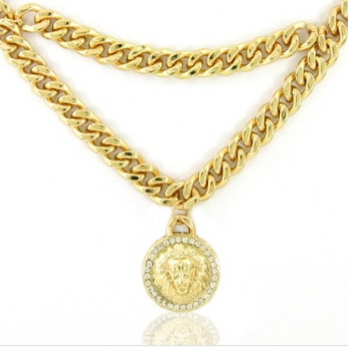 Lion Medallion Chain now available! Http://crownthequeens.com