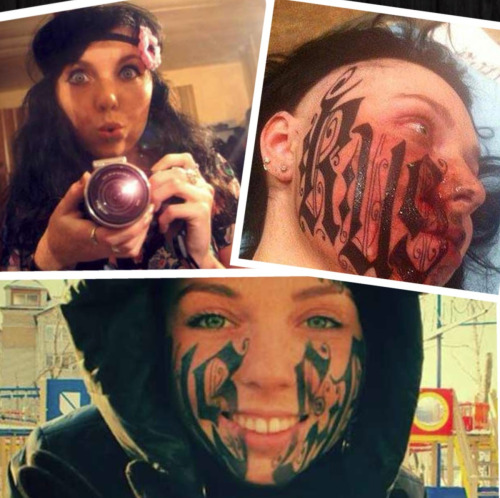 A tattoo artist convinced his girlfriend — of less than 24 hours — to allow him to ink his name on her face.  Read more: http://www.myfoxorlando.com/story/20970742/woman-lets-boyfriend-tattoo-his-name-across-her-face?clienttype=generic&mobilecgbypass#ixzz2K9LnnBBX