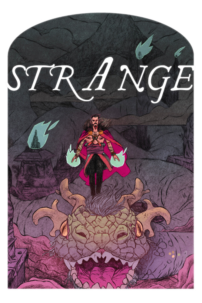 12.  The Sorcerer Supreme I think I could really get into drawing a Dr. Strange story if it were less Doctor, more Strange.  Weird is my favorite thing to draw. The Mighty Month of Marvel CONTINUES!!!  Vote for your favorites to be featured.  And know that as you sleep, the fragile fabric that separates our world from UNFATHOMABLE HORRORS is kept in place by none other than… DOCTOR STRANGE!!!!