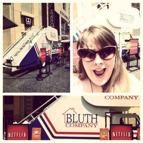 just casually hanging out by the bluth family stair truck…. I was only slightly freaking out. #arresteddevelopment #bluth #stairtruck #california  #whaaaaaaaat
