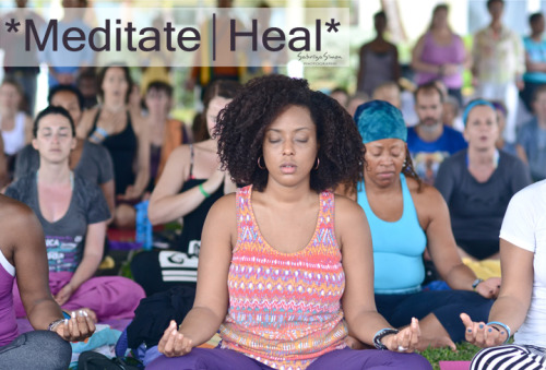 Photo Title: ~ Meditate | Heal ~ {Image taken during the final Meditation & Chanting Session of the Closing Ceremony at the Caribbean Yoga Conference 2013, which was held in Montego Bay, Jamaica. That Closing Ceremony of the Conference was honestly one of the most beauty-full and healing experiences that I've witnessed and been a part of, in a collective setting. *Looking forward to CYC 2014*}
