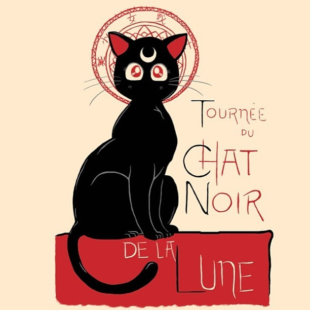 """CHAT NOIR DE LA LUNE"" by DiHA sold March 12 only at riptapparel.com"