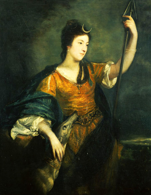 jaded-mandarin:  Portrait of Lady Anne Dawson, three-quarter length, as Diana by Sir Joshua Reynolds.