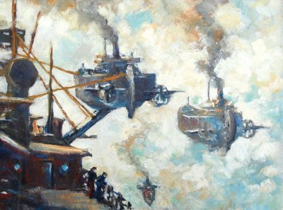 Coaling in the Clouds by Charles Litka