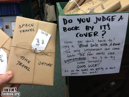 Blind dates with books. Love love love.