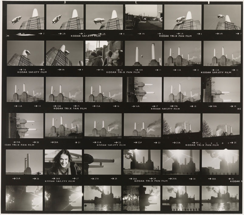 Pink Floyd Contact Sheet for Animals at London Battersea Power Station, 1976 photo by Carinthia West