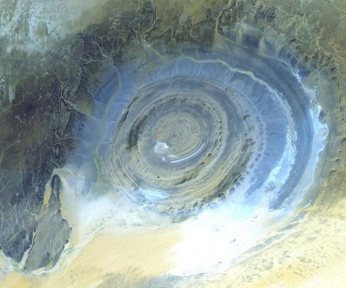 n-a-s-a:  Earth's Richat Structure Image Credit: NASA/GSFC/METI/Japan Space Systems, and U.S./Japan ASTER Science Team