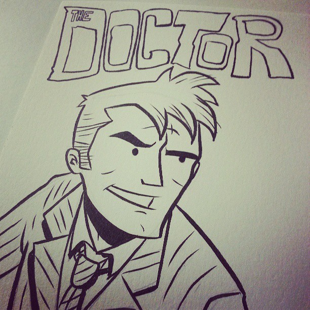 Here I have drawn the Doctor. #DoctorWho