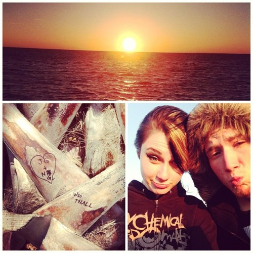 💕🌞✨#sunset #beach #me #john #happiness #johncorrectedmyinitials aha