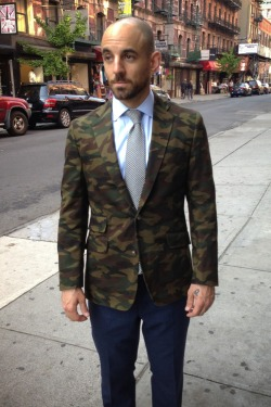 Epaulet Japanese Camo Twill Sportcoat - Available for MTO next week!