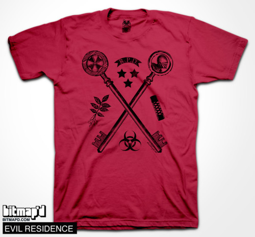 This is a great Resident Evil inspired T-shirt and it's available to purchase now at www.bitmapd.com!