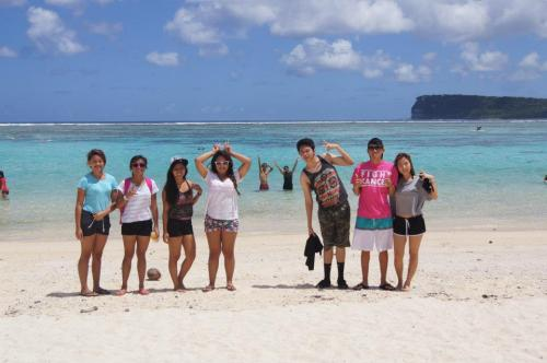 Our day at the beach back in Guam was great. But it was so damned hot and everyone (including me) got a sunburn.