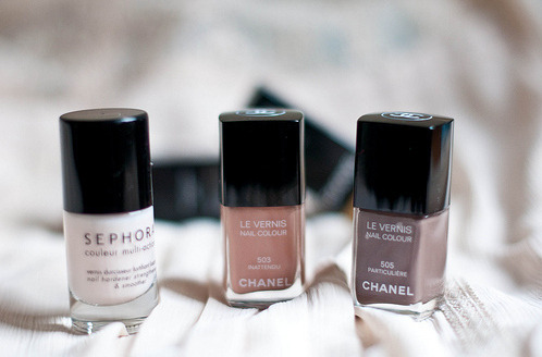 Chanel nail polish,loving the colores