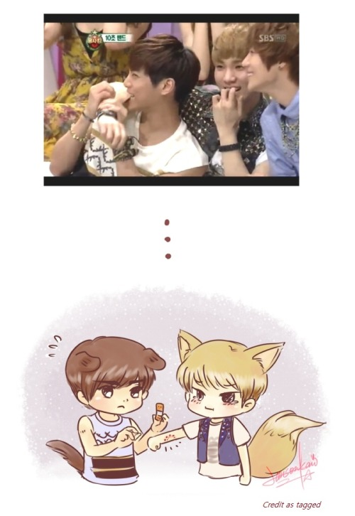 theunordinarygirl:  LOOOOL. Jjong bit Key~ Credit to whoever drew this, and this scene's from Starking.