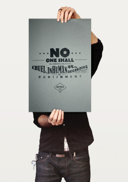 Human Rights Prints_ Presenting the Universal Declaration of Human Rights in a unique way in order to raise awareness to a target market who may not already be familiar with it.