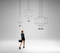 Seemingly 2D Lighting Designs Inspiring Frailty and Elegance: WIREFLOW