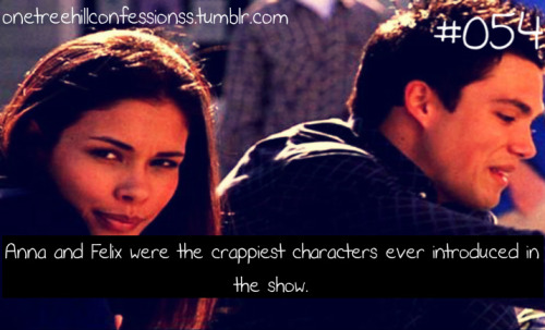 """Anna and Felix were the crappiest characters ever introduced in the show""  ..Yeah they were kinda pointless"