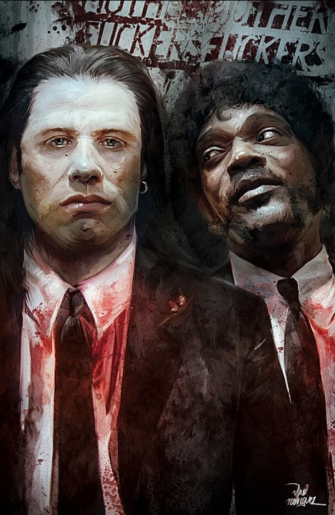 ladyfrankenstein13:  lazy—eyes:  Vincent Vega & Jules Winnfield by Vlad Rodriguez