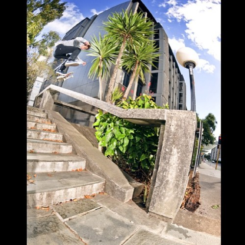 joshuapollina:  Dustin Dollin | Kickflip 50.50 | New Zealand 2010 - via @andrewjamespeters