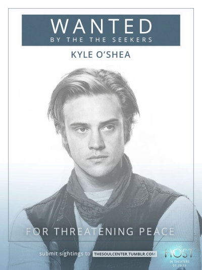 thesoulcenter:  Wanted: Kyle O'Shea for threatening peace. Do not approach. If you see him, please submit your sighting to The Seekers here.