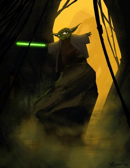 tiefighters:  When 900 years old you reach, look as good, you will not. Yoda illustrated by Yuhki Demers