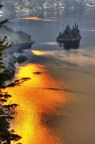 Phantom Ship Island - Crater Lake National Park, Oregon