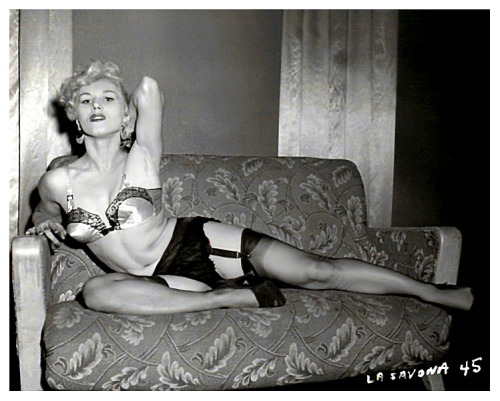 La Savona      (aka. Svetla Goode) From the photo series shot by Irving Klaw..