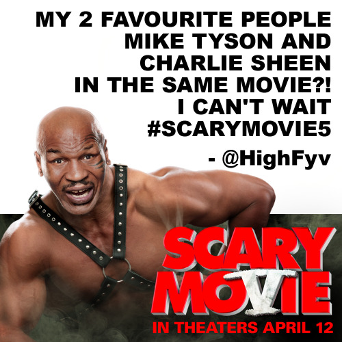 Only Five days to go! Tell us how excited you are for Scary Movie 5 and your comment or Tweet could be the next featured post! Scary Movie 5 is in theaters this Friday!