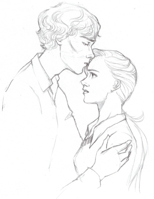 strawberrypatty:  SHERLOLLY WEEK DAY THREE: FAVOURITE FAN ART— THE FULL HOUSE COLLECTION BY ARTBYLEXIE (1/4) Yeah, I'm cheating like crazy. I can't pick my favourite Sherlolly piece. But I can narrow it down to thirty-six of them (some of which I haven't posted on Tumblr, because I got lazy). So when I joined the Sherlock fandom and the good ship Sherlolly, I didn't really know how long I'd stick around. I started to write a fic called The Full House and I figured I'd get that out of my system and that would be it. Then I got the innocent little message:       I hope you don't find this super weird, but I was thinking of your story (Full House) today…and I actually drew little picture for it. Haha. I'd love for you to see it. Is there an email I can send it to? Thanks! cheers. —Lex       Then EVERYTHING CHANGED. (to be continued…)  Oh my lord. I actually debated not even sending anything to Clare because I thought it wasn't good enough (guys, have you SEEN some of the Sherlock art out there?) so I actually debated sending it for a while.  But boy am I glad I did.  Some of these have never before seen on my blog! And jeezus, you can tell how much of a novice I still was trying to get everyone's faces right and finding my style. Keep in mind, I hadn't drawn anything properly in about two years.