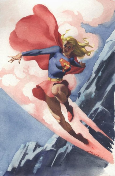 spaceshiprocket:  Supergirl by Steve Rude